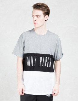 Daily Paper Black Script Logo Mesh Panel T-shirt Picture