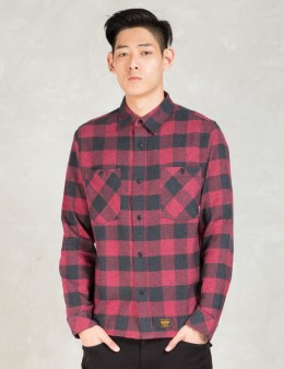 FUCT SSDD Red Ssdd Plaid Flannel Shirt Picture