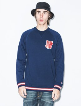 UNDEFEATED Blue Outfielder Crewneck Sweater Picture