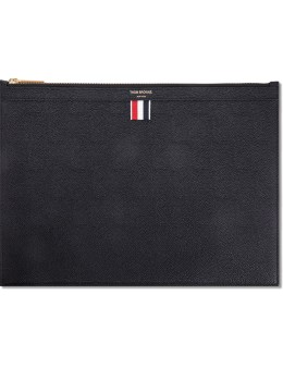 THOM BROWNE Pebble Grain Leather Medium Zipper Document Holder (A4) Picture