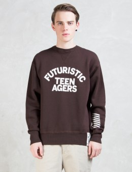 Human Made Burgundy Spaceman Sweat Picture