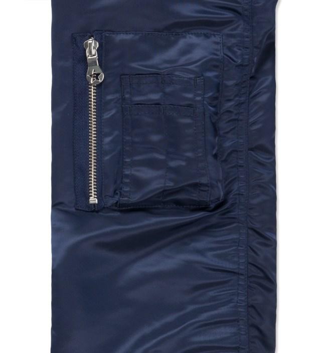 PHENOMENON Navy Check Mix MA-1 Blouson Jacket