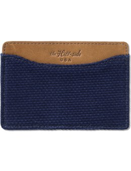 The Hill-Side Lightweight Indigo Sashiko Card Case Picture
