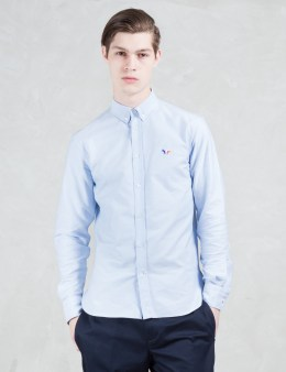 MAISON KITSUNE Tricolor Patch Classic Oxford Shirt Picture