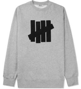 UNDEFEATED Heather Grey 5 Strike Crewneck Sweater Picture