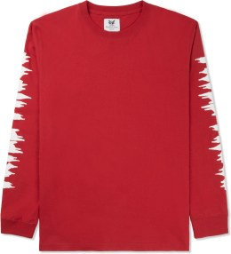 Mark McNairy for Heather Grey Wall Red Trill These Print L/S T-Shirt Picture