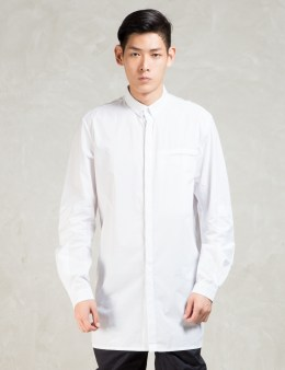 STAMPD White L/S Elongated Button Down Shirt Picture