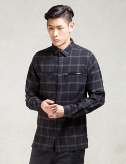 STAMPD Black L/S Dustin Plaid Shirt Picture