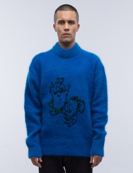 ROCKET X LUNCH R Angora Knit Sweater Picture
