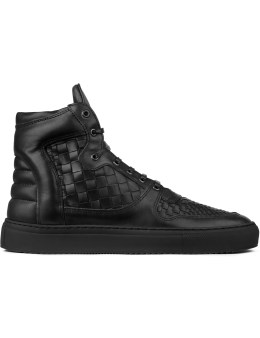 Filling Pieces Black Acp Woven High Top Sneakers Picture
