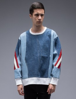 FACETASM Patched Denim Sweatshirt Picture