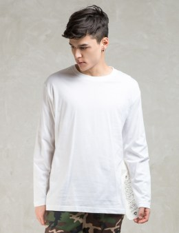 PHENOMENON White L/S Big Tag Long T-Shirt Picture