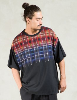 FACETASM Black Embroidered T-Shirt Picture