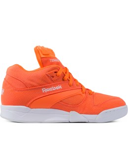 Reebok Solar Orange/White Court Victory Pump Tech Picture
