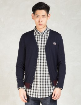 CARVEN Navy Cassette Cardigan Picture