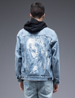 SAM by Warren Lotas Faded Blue Denim Jacket Style B (Size M) Picture