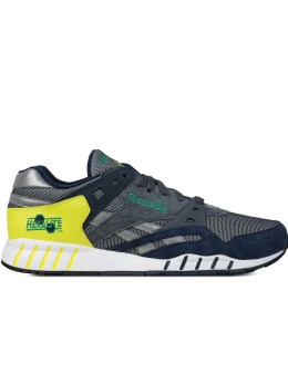 Reebok Collegiate Navy/Graphite/Hyper Green/Green Sole-Trainer Sneakers Picture