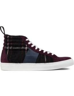 MSGM Black Cupsole High Cut Sneakers Picture