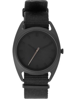 Nocs Atelier Black Seconds Watch With Rose Gold Second Hand Picture