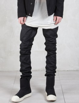 Rick Owens Drkshdw Coated Pantaloni Jeans Picture
