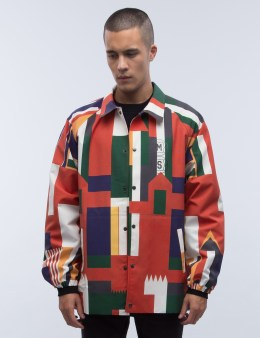 SANKUANZ Multi Flags Overprint Coach Jacket Picture