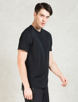 REIGNING CHAMP Black Lightweight Powerdry Ss Crew Picture