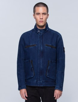 STONE ISLAND Water Repellent Denim Jacket Picture