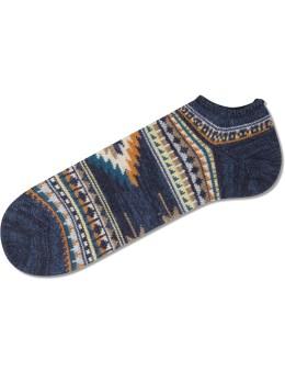 CHUP Navy Rejilla Socks Picture