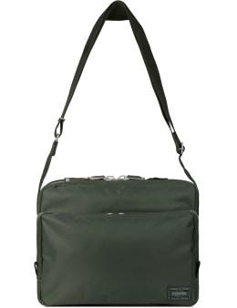 Head Porter Olive Spirit Shoulder Bag Picture