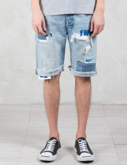 Levi's 501 Cut-off Repair Denim Shorts Picture