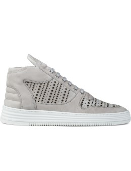 Filling Pieces Perforated Mid Top Transformed Sneakers Picture