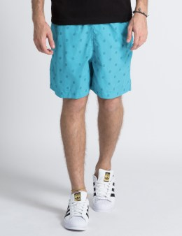 Odd Future Aqua Allover Donut Swim Trunks Picture