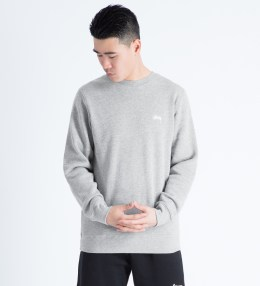 Stussy Heather Grey I.S.T. Applique Crewneck Sweater Picture