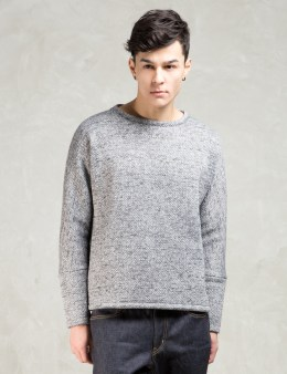 Minotaur Grey Knit Fleece Crew Sweater Picture