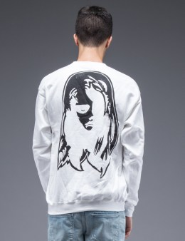 SAM by Warren Lotas White Crewneck Sweatshirt Style A (Size S) Picture