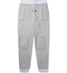 Band of Outsiders Heather Grey Woven Contrast Sweatpants Picture