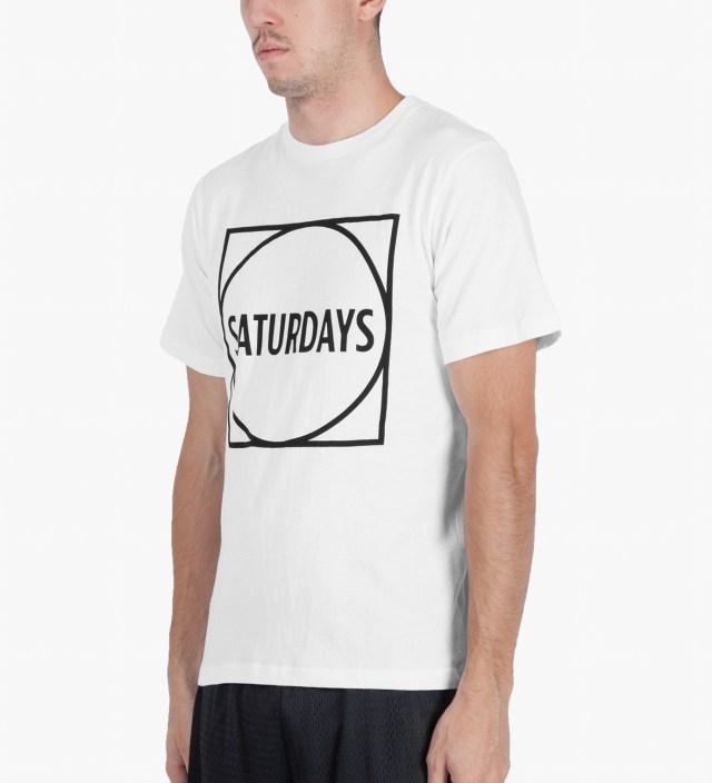 SATURDAYS NYC White Circle Square T-Shirt