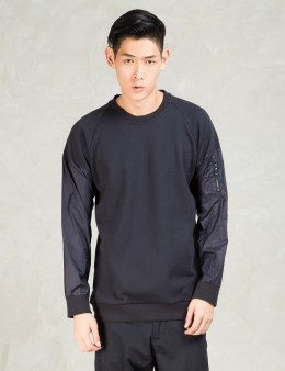 Still Good Navy Bomber Sleeves Sweatshirt Picture