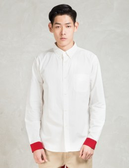 Head Porter Plus White Red Cuffs Shirt Picture