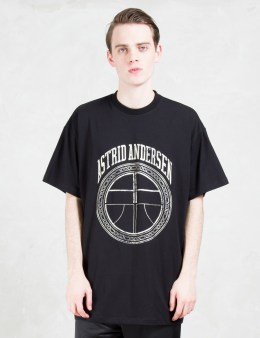 ASTRID ANDERSEN Floral Print Logo S/S T-Shirt Picture