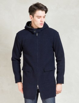 Discovered Navy Double Face Hood Coat Picture