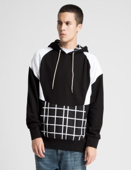 HALL OF FAME Black Tech Grid Hoodie Picture