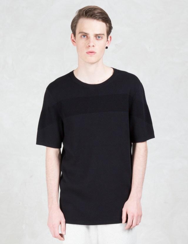 helmut lang striped jacquard s s t shirt hbx. Black Bedroom Furniture Sets. Home Design Ideas