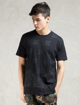 PHENOMENON Black S/S Paisley Print T-Shirt Picture