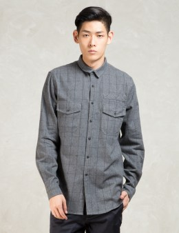 STAMPD Grey L/S Plaid Flannel Shirt Picture