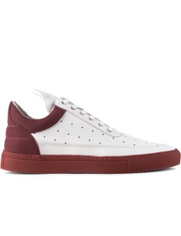Filling Pieces Burgundy Messey Low Top Sneakers Picture