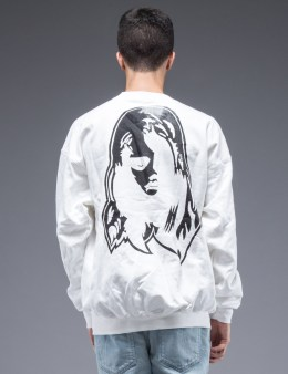 SAM by Warren Lotas White Crewneck Sweatshirt Style F (Size L) Picture