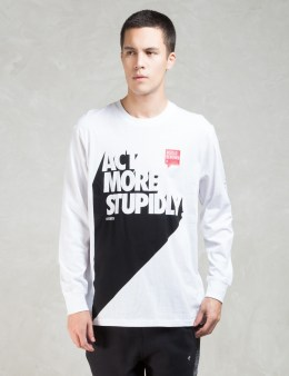 Staple White L/S Act Stupid T-Shirt Picture