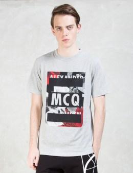 McQ Alexander McQueen Floral Logo S/S Crew T-Shirt Picture