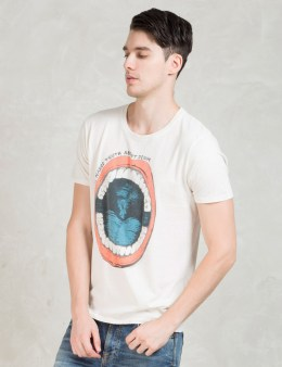 Nudie Jeans White Sscn Speak The Turth T-Shirt Picture